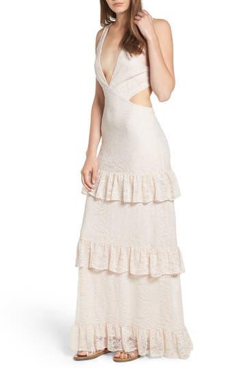 Afrm Lanna Tiered Maxi Dress, Pink