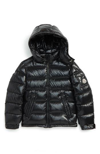 Boy's Moncler Maya Hooded Down Jacket