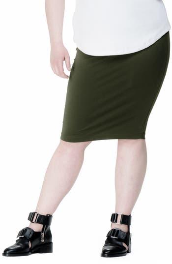 Plus Size Universal Standard Danube Jersey Skirt, Green