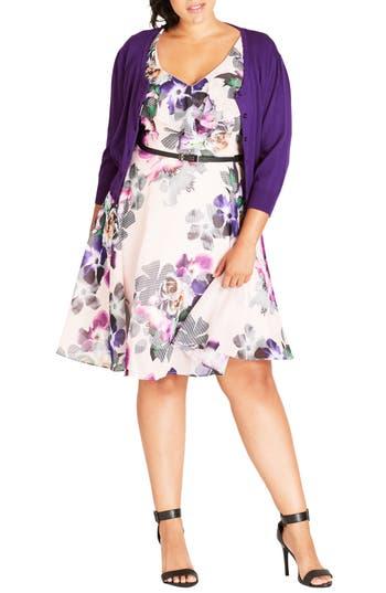 Plus Size Women's City Chic Cute Button Cardigan