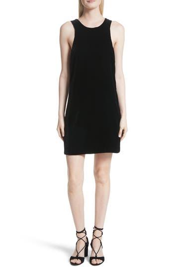 Elizabeth And James Pippin Velvet Strappy Back Dress, Black