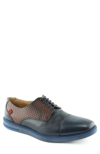 Marc Joseph New York Manhattan Cap Toe Oxford- Blue