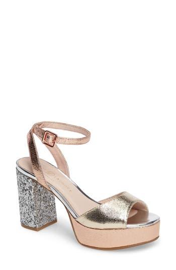 Chinese Laundry Tayla Platform Sandal- Metallic