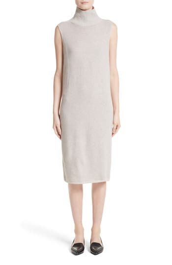Lafayette 148 New York Vanise Merino Wool & Cashmere Sweater Dress, Size Petite - Beige