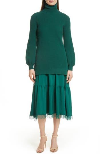 Women's N?21 Lace Trim Dress, Size 4 US / 40 IT - Green