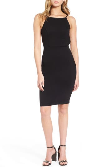 Women's Soprano Open Back Body-Con Dress, Size Medium - Black