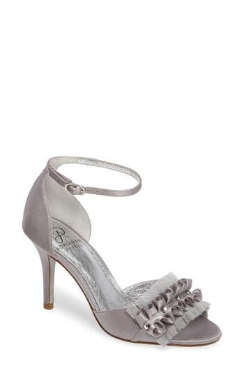 Women's Adrianna Papell Alcott Chiffon Ruffle Sandal, Size 5.5 M - Metallic