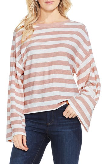 Two By Vince Camuto Lydia Stripe Tee, Pink
