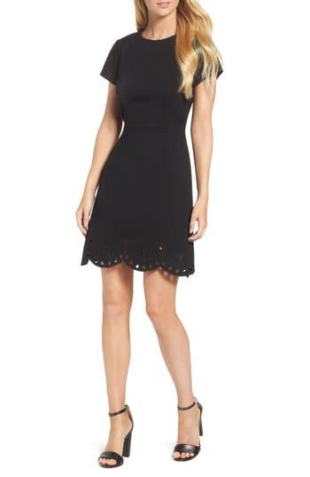Eliza J Fit & Flare Dress, Black