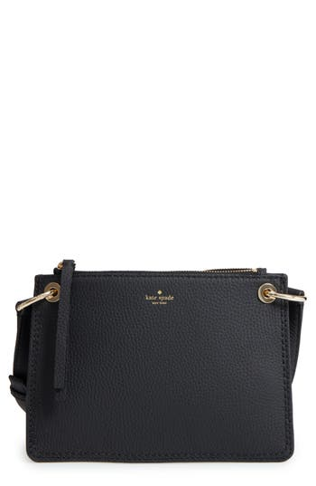 Kate Spade New York Dunne Lane - Caro Leather Crossbody Bag - Black