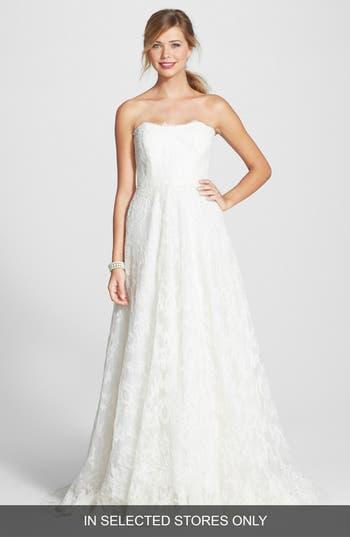 Bliss Monique Lhuillier Lace A-Line Dress