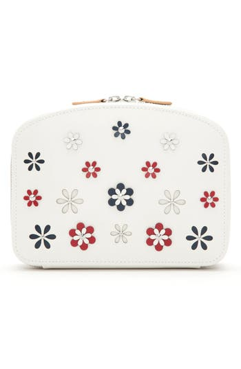WOLF Blossom Leather Travel Jewelry Case