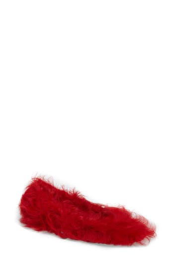 Jeffrey Campell Lettie Genuine Shearling Flat, Red