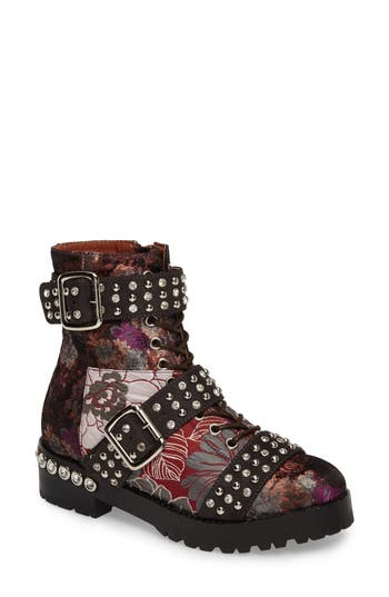 Jeffrey Campbell Slam Embellished Bootie, Red