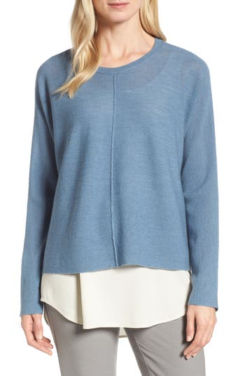 Eileen Fisher Merino Wool Sweater, Blue