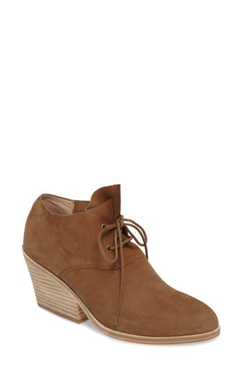 Eileen Fisher Charlie Lace-Up Bootie- Beige