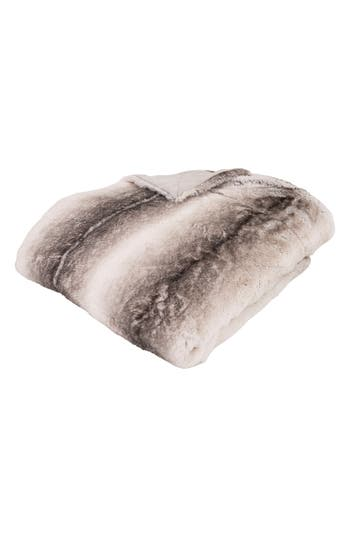 Eightmood Wildlife Faux Fur Throw Blanket, Size One Size - Beige