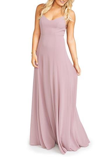 Show Me Your Mumu Godshaw Chiffon Gown, Pink