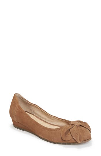 Me Too Martina Bow Ballet Wedge- Brown