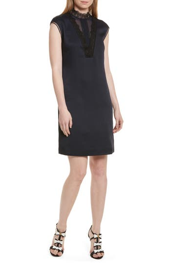 Ted Baker London Jesyka Lace Inset Tunic Dress, Blue