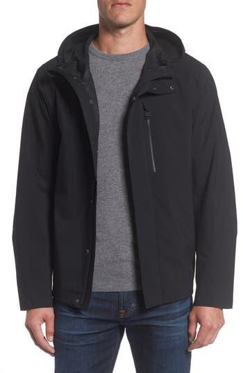 Marc New York Stratus Waterproof Hooded Rain Jacket, Black