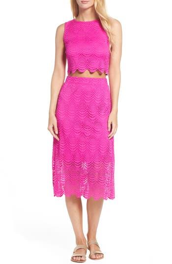 Lilly Pulitzer Naomi Two-Piece Lace Dress, Purple
