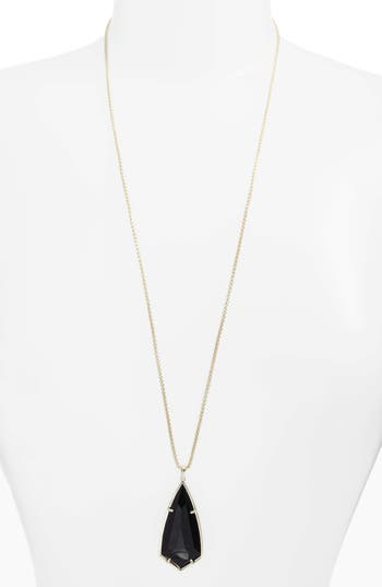 Women's Kendra Scott 'Carole' Long Semiprecious Stone Pendant Necklace