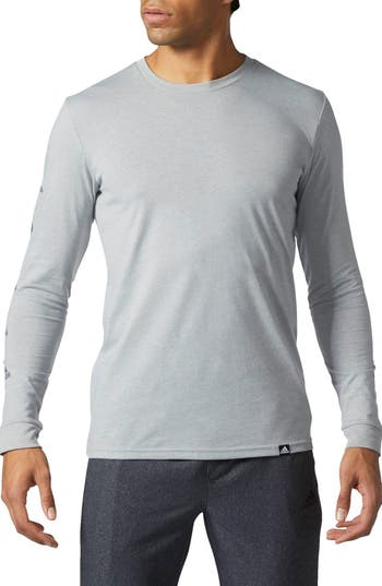 Adidas Badge Of Sport Long Sleeve T-Shirt, Grey