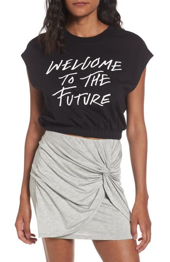 Volcom Cut Cup Crop Graphic Tee, Black