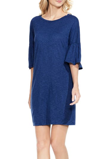 Two By Vince Camuto Bell Sleeve Jersey Shift Dress, Blue