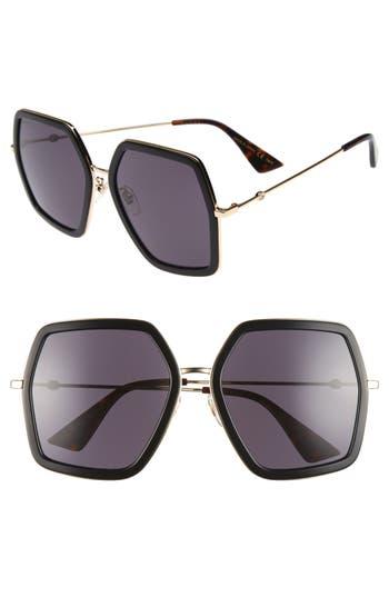 Women's Gucci 56Mm Sunglasses -