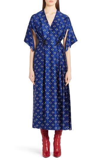 Women's Fendi Drops Print Silk Dress