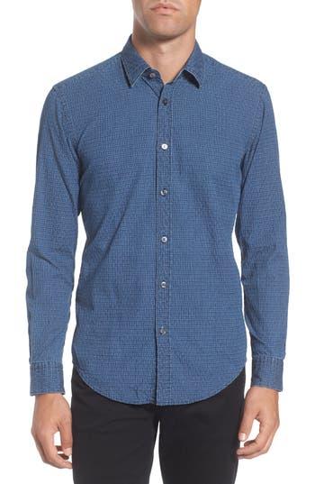 Men's Boss Ronni Slim Fit Dobby Denim Sport Shirt
