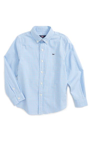 Boy's Vineyard Vines Stowaway Plaid Shirt