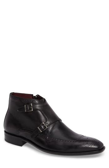 Mezlan Taberna Double Monk Strap Boot- Grey