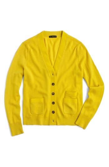 J.crew Harlow Merino Wool Cardigan, Yellow