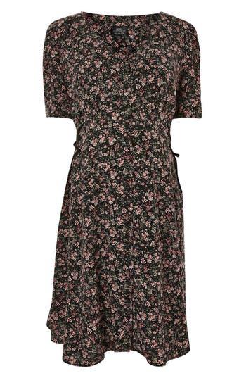 Topshop Corset Side Maternity Dress, US (fits like 0-2) - Black