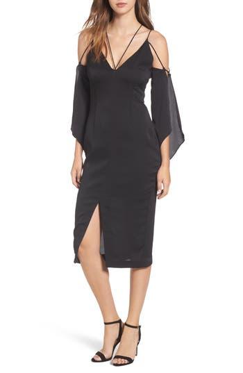 Keepsake The Label Raindrops Midi Dress, Black