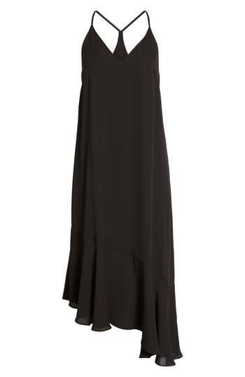 Soprano Asymmetrical Midi Dress, Black