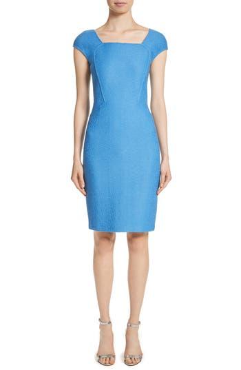 St. John Collection Hannah Knit Dress, Blue
