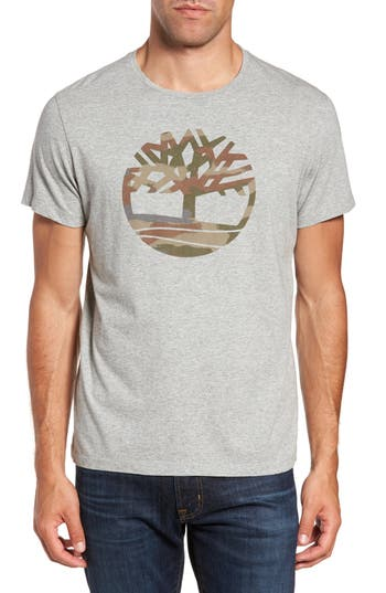 Men's Timberland Dunston River Camo Logo T-Shirt, Size Small - Grey