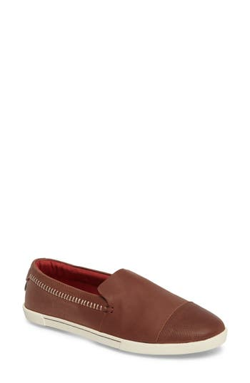 Olukai Alohi Embossed Cap Toe Slip-On