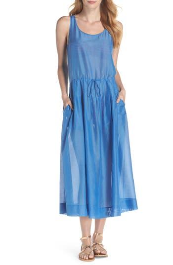 Diane Von Furstenberg Cover-Up Midi Dress, Size Petite - Blue