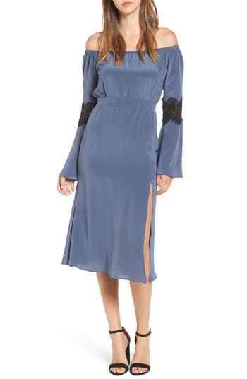 Stone Cold Fox Nicholson Off The Shoulder Dress