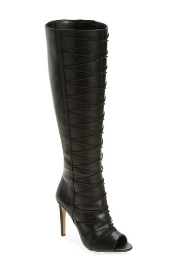 Women's Vince Camuto Kentra Strappy Tall Boot, Size 6 M - Black
