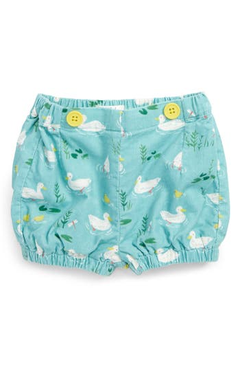 Toddler Girl's Mini Boden Pretty Corduroy Bloomers, Size 0-3M - Blue/green