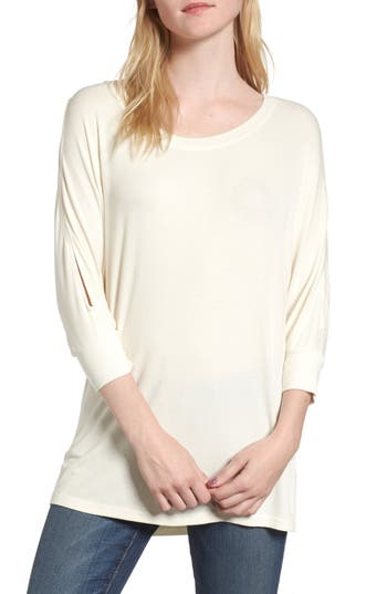 Splendid Rib Knit Tunic, Beige