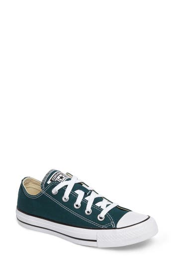Converse Chuck Taylor All Star Seasonal Ox Low Top Sneaker, Blue/green