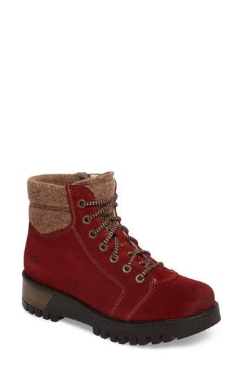Bos. & Co. Gardner Waterproof Lace-Up Boot - Red