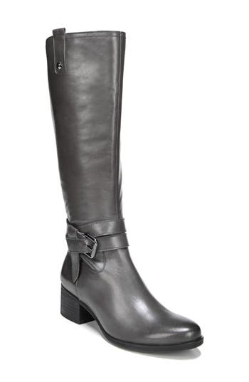 Naturalizer Dev Buckle Strap Boot, Wide Calf W - Grey